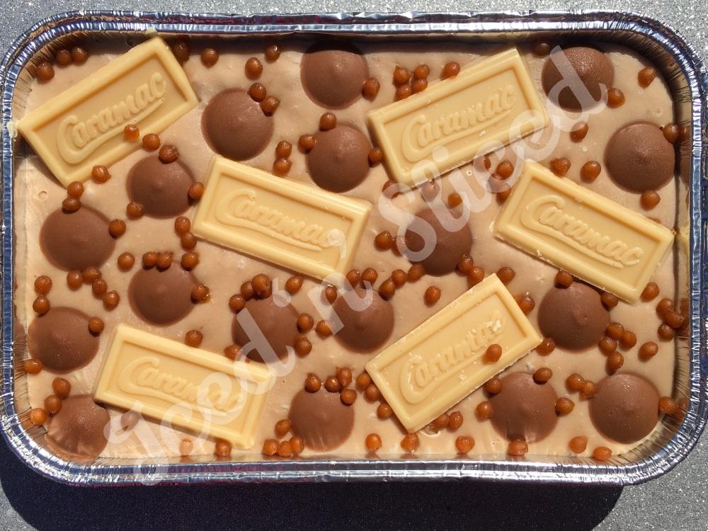 Caramac fudge tray