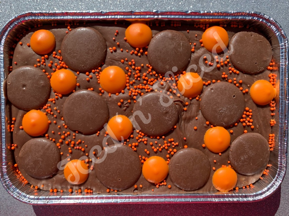Cadbury Orange fudge tray