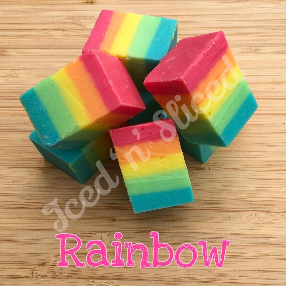 Rainbow fudge pieces