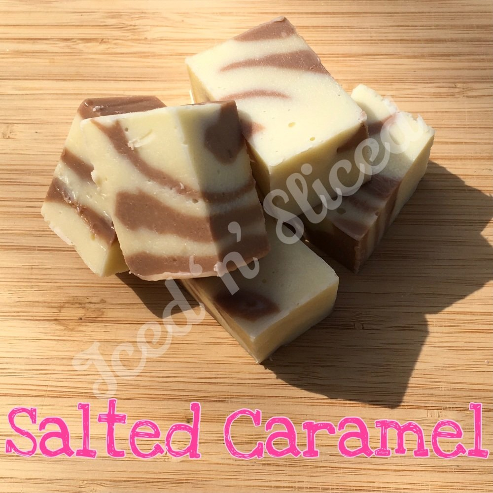 Salted Caramel Swirl fudge pieces