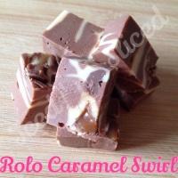 Rolo Caramel Swirl fudge bar