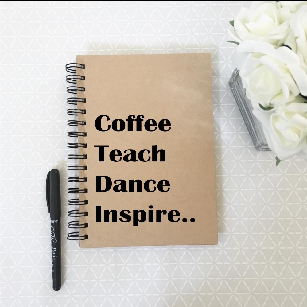 Dance teacher notebook