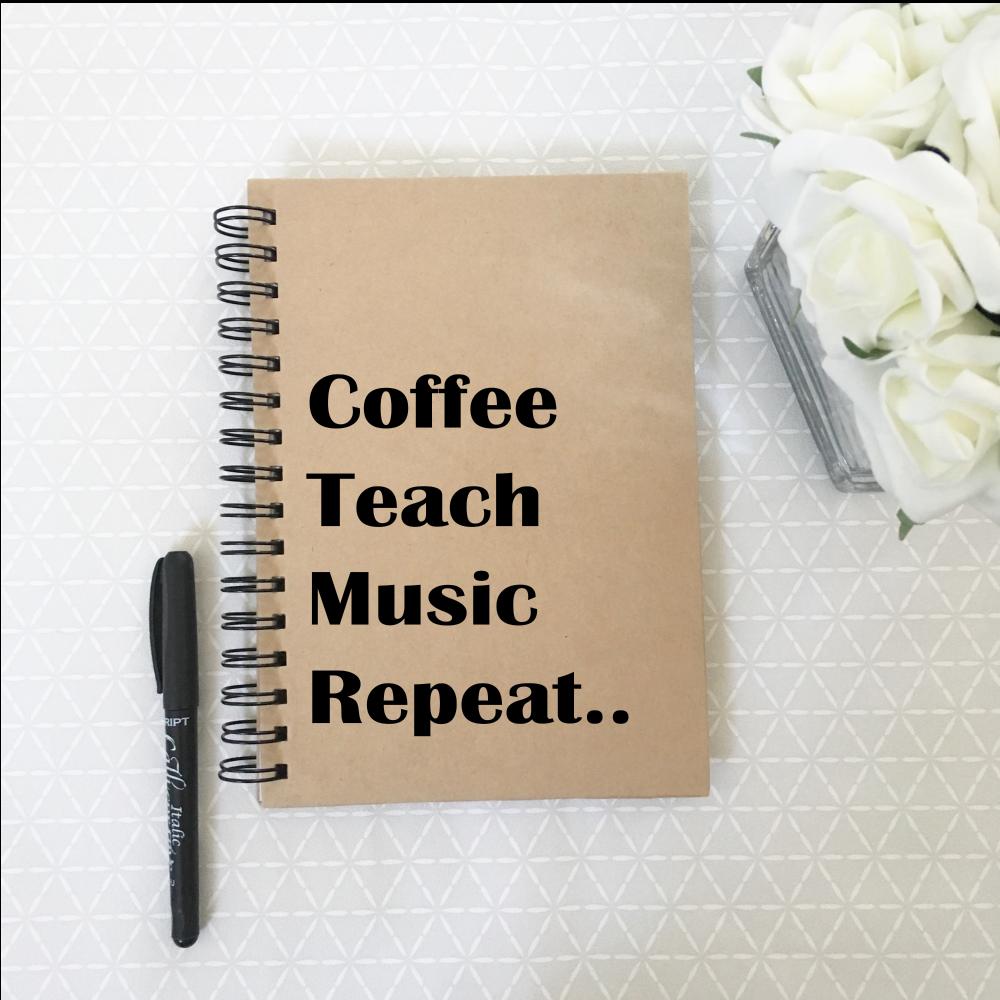 Music teacher notebook