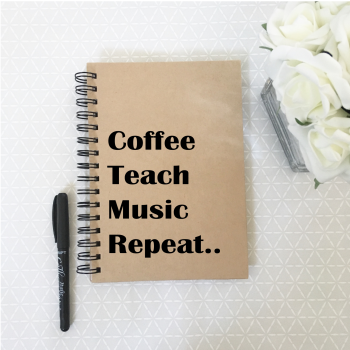 Music teacher notebook