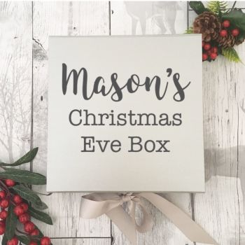 Silver Personalised Christmas Eve Box