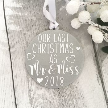 Last Christmas as Mr & Miss Bauble - Silver