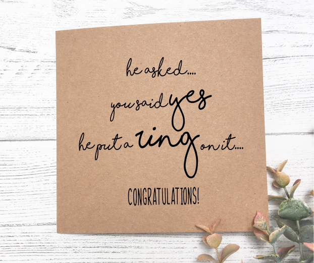 Congratulations on Engagement Card