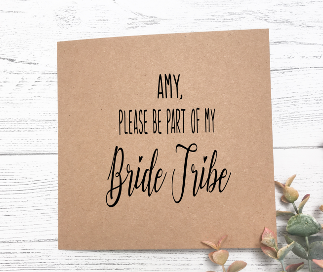 Bride Tribe Proposal Card