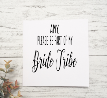 Bride Tribe Proposal Card - white