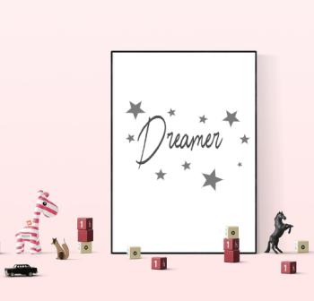 Dreamer, Bedroom Print