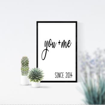 You + Me Print