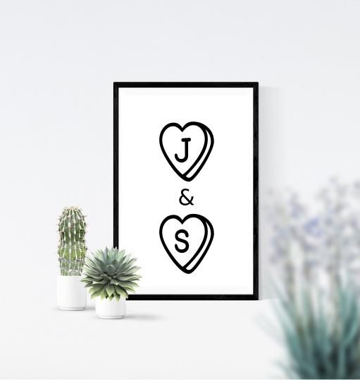Lovehearts Print