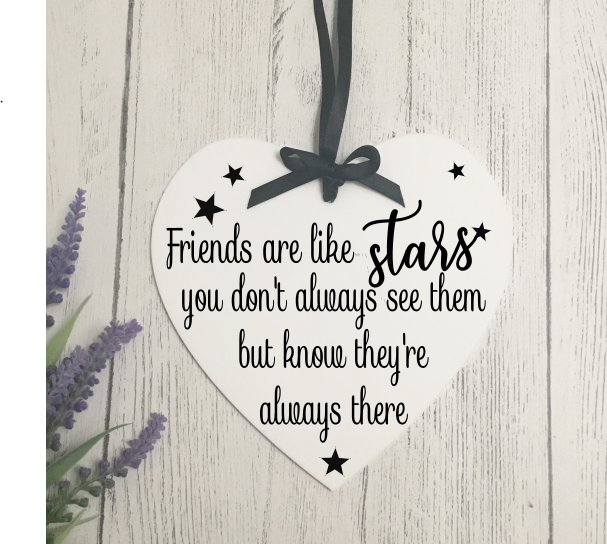 Star Friends Heart Plaque