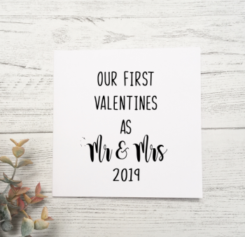 Our First Valentines as Mr and Mrs 2020 card