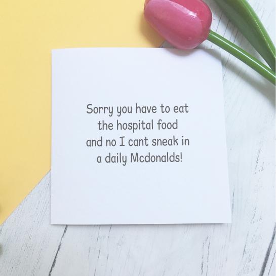 Hospital Food Card
