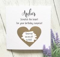 Scratch Reveal Birthday Card