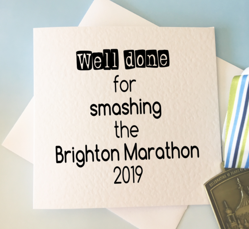 Well done for running a marathon