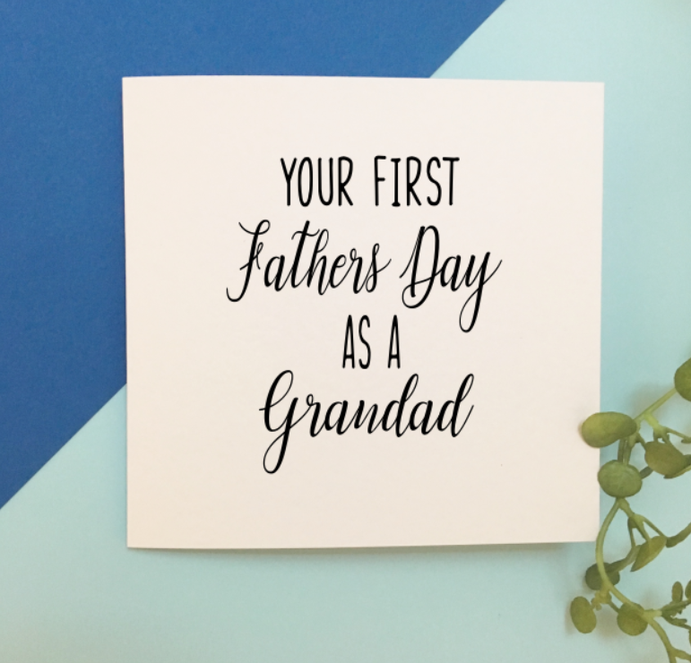 First Fathers Day as a Grandad Card