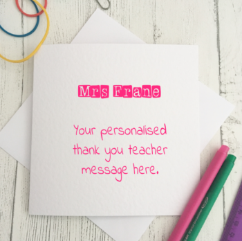 Personalised Teacher Card