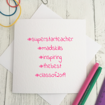 Hashtag Teacher Card