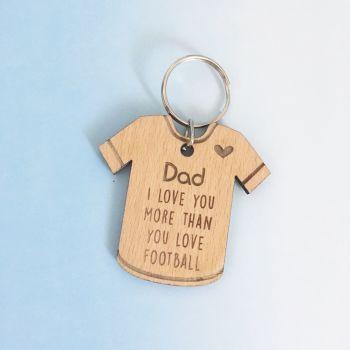 Dad Football Shirt Keyring