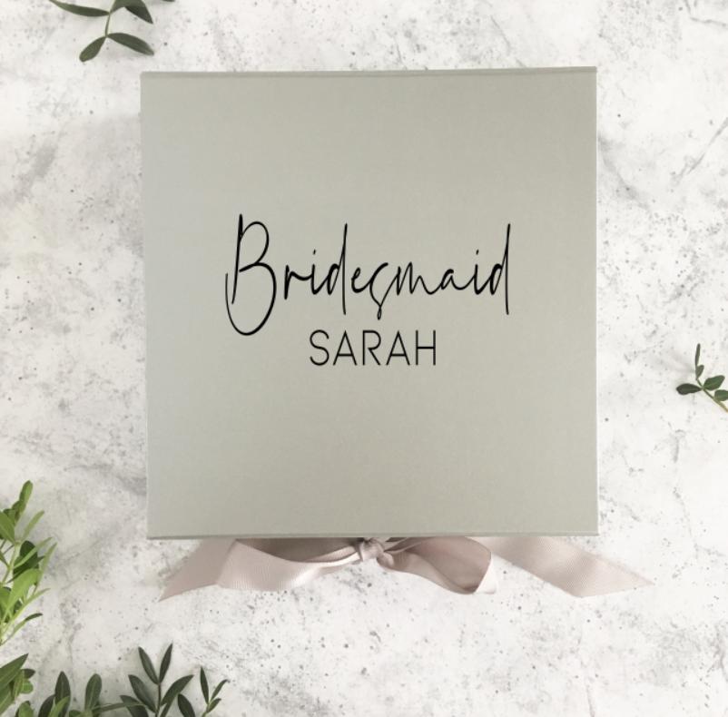 Contemporary Bridesmaid Gift Box