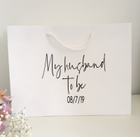 My Husband to be gift bag