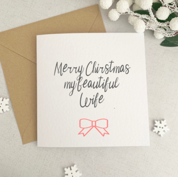 Beautiful wife Christmas card