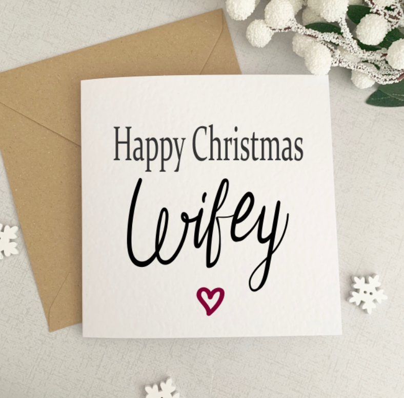 Happy Christmas Wifey Card