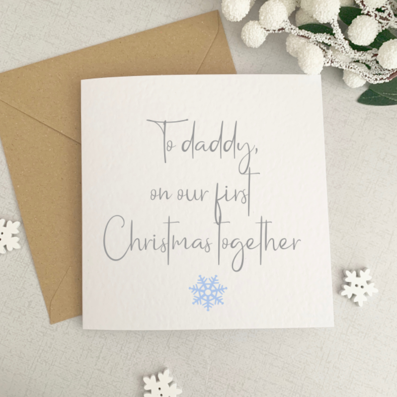 Daddy First Christmas Card