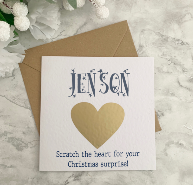 Christmas Scratch Reveal Card
