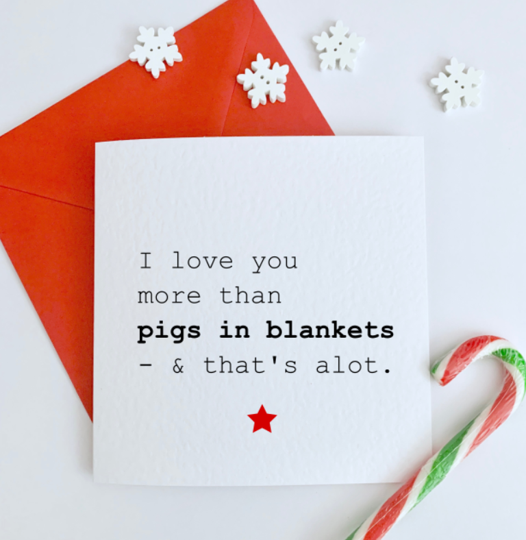 Pigs in Blankets Card