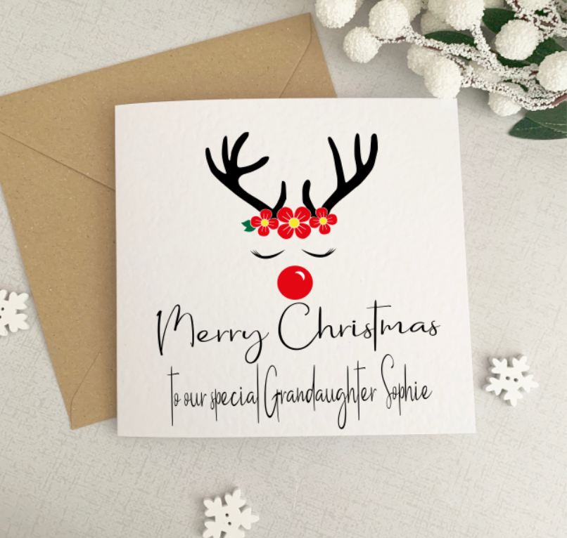 Personalised Reindeer Card