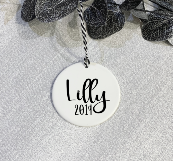 Pretty Name Ceramic Bauble