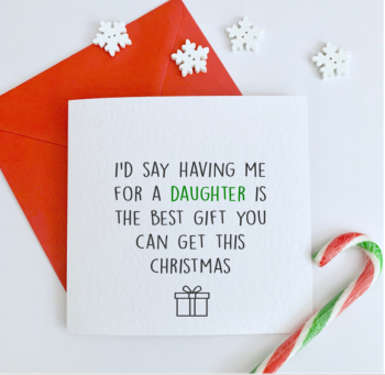 Best Gift  Christmas Card for parents
