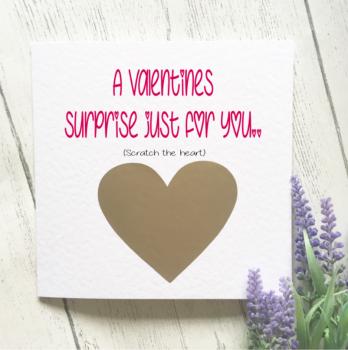 Valentines Surprise Scratch Card
