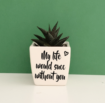 Life Would Succ Without you Planter