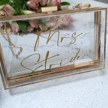 Mrs Clutch Bag - Clear