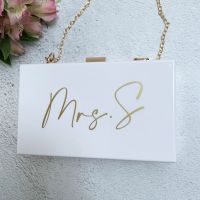 Mrs Clutch Bag - White