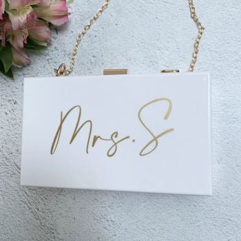Mrs Clutch Bag - White