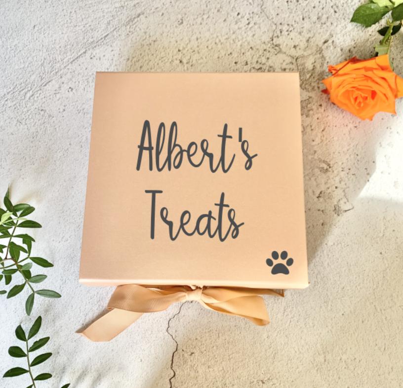 Personalised Dog Treat Box