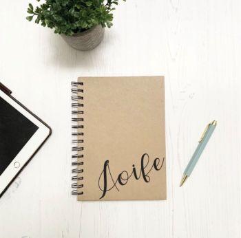 Corner Name Notebook