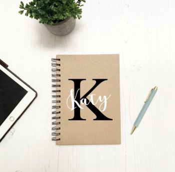 Initial and Name Notebook