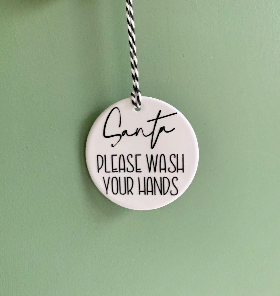 Santa Wash Hands Decoration