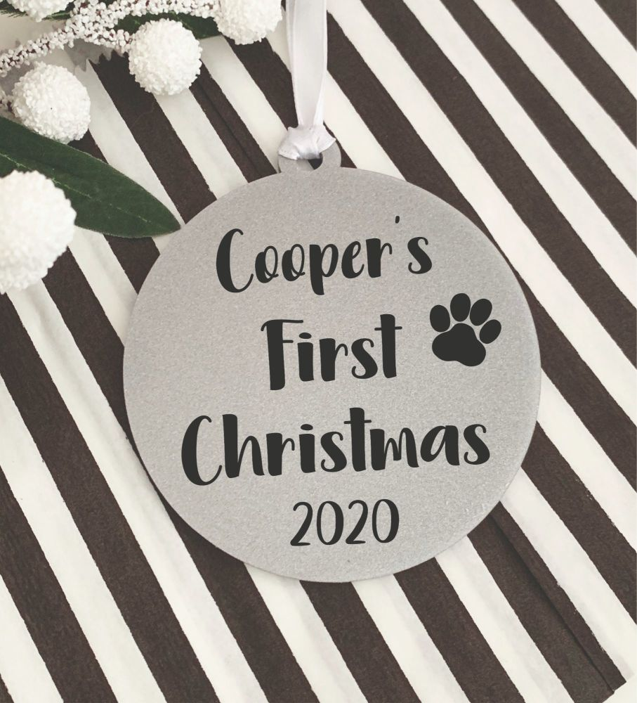Dog First Christmas Decoration