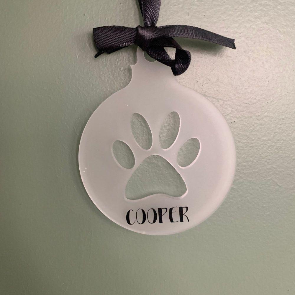 Paw Print decoration