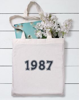 Birthday Year Date Tote