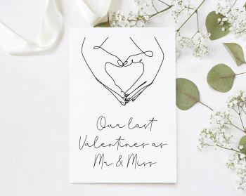 Last Valentines As Mr & Miss Card