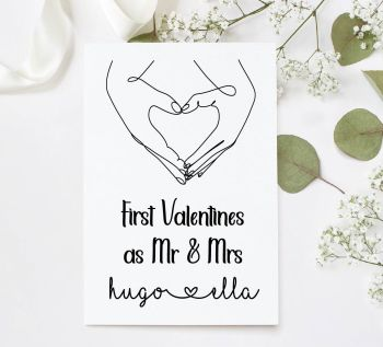 First Valentines Married Card