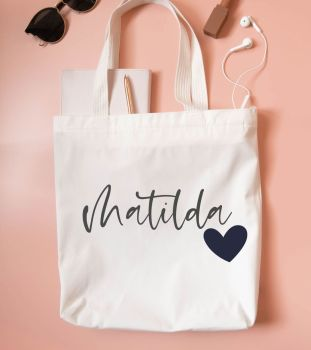 Name & Heart Tote